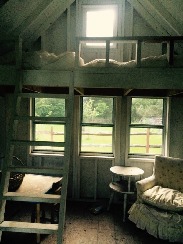 view of sleeping loft