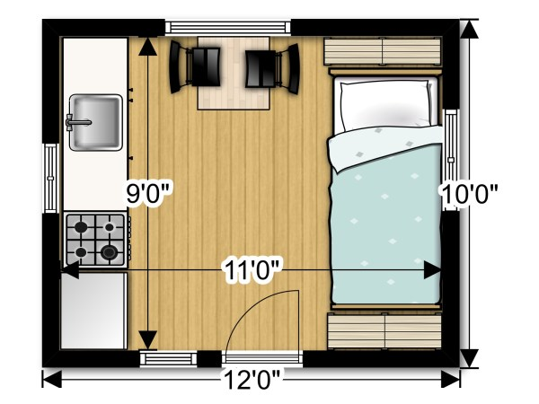 Back to Basics Tiny Cabin Floor Plan