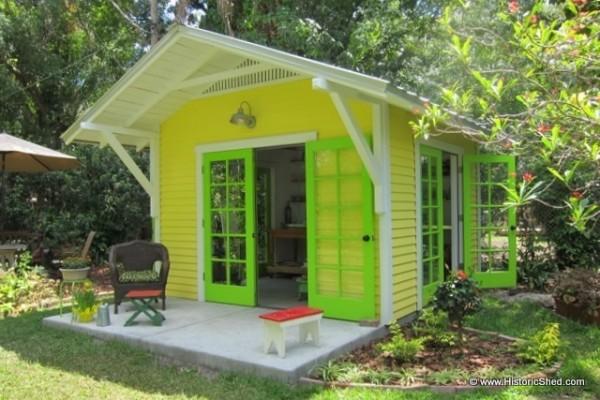 Beau Backyard Shed Built As Art Studio For Homeowner