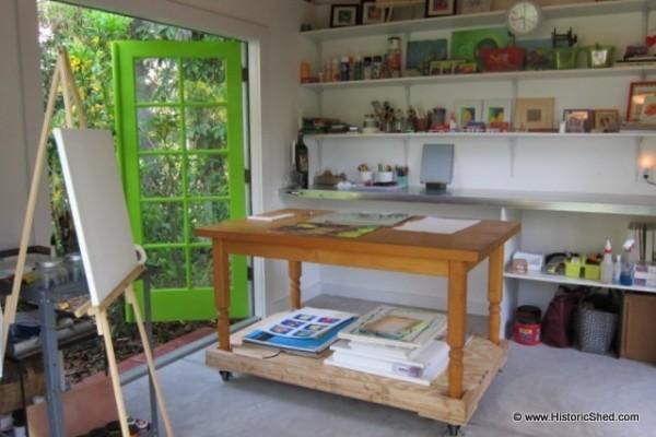 Backyard Shed Art Studio Historic Shed 06