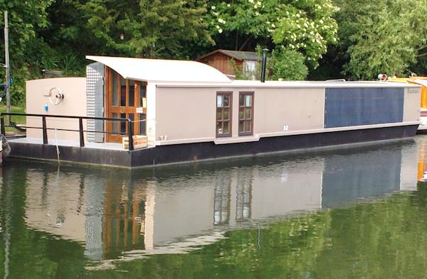 Solar Powered Bauhaus Barge Boathouse is Self Sufficient and Carbon Neutral