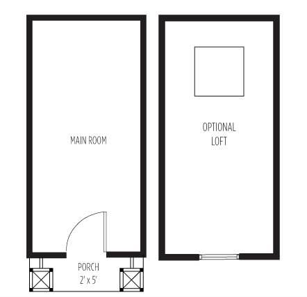 Beavan Box Bungalow Tiny House Floor Plan