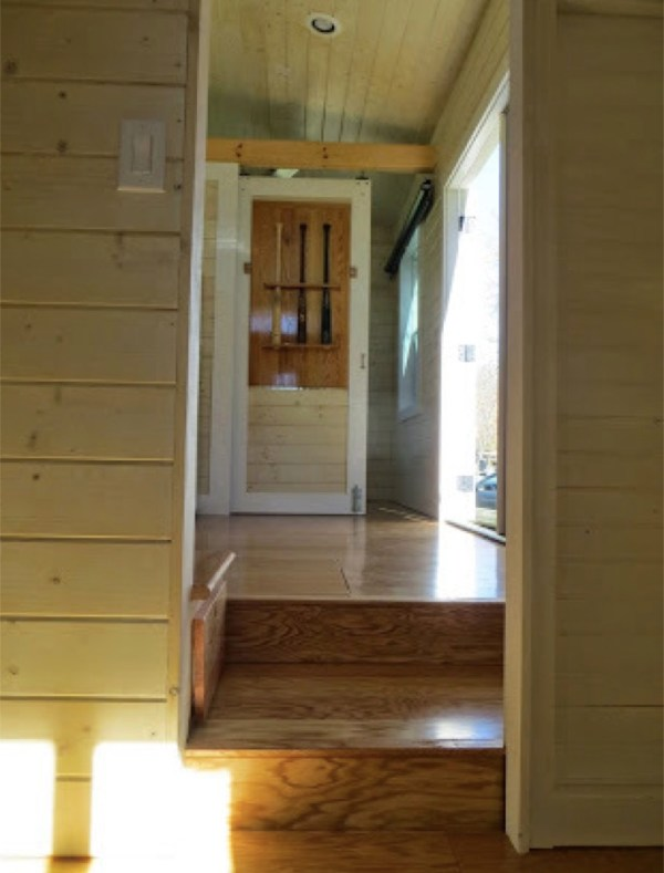 view inside tiny house