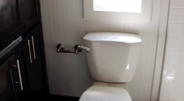 Flush Toilet in a Tiny House
