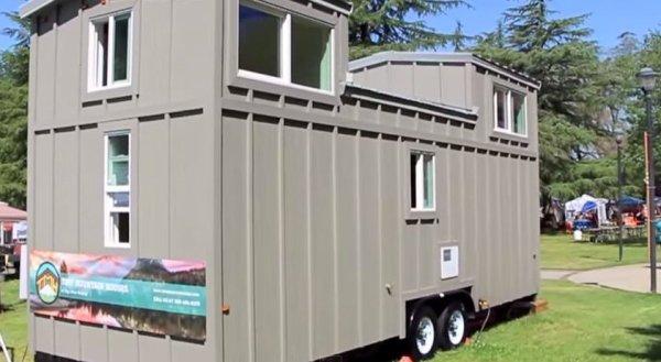 Double Dormer Loft Tiny House on Wheels