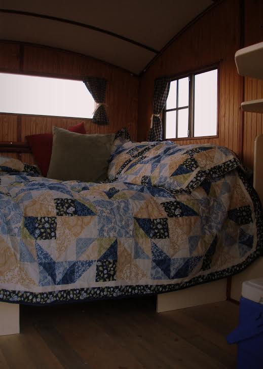 Six Inch Memory Foam Bed Inside this Micro Cabin Camper