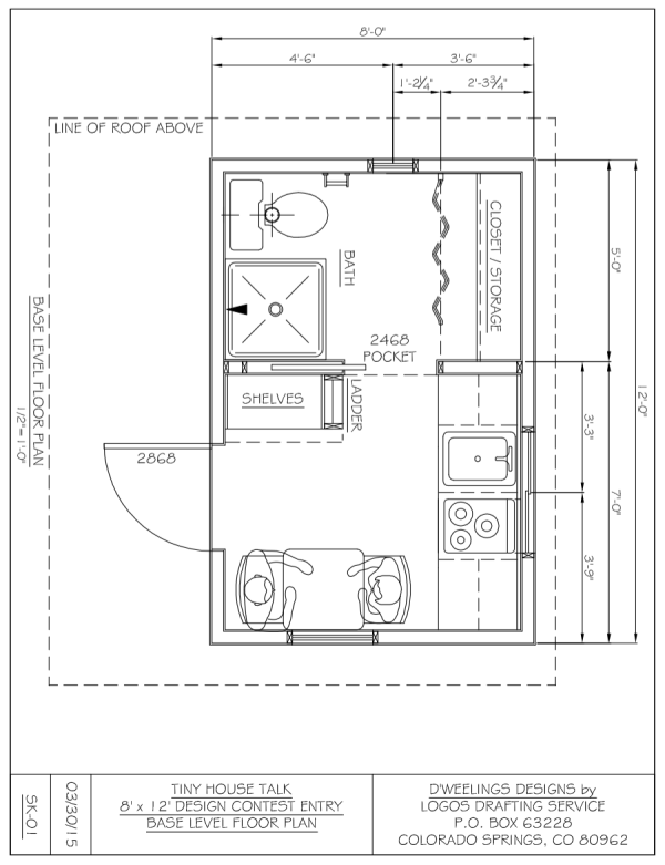 charles strongs 812 tiny house design - 8x12 Tiny House On Wheels Plans
