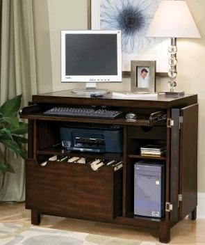 Compact Computer Armoire Open