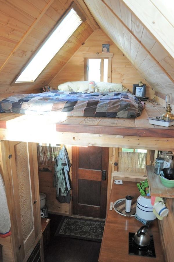 Dee Williams' Tiny House on a Trailer, Sleeping Loft, Photo by Tammy Strobel