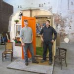Derek and Dustin Diedricksen from RelaxShacks with their 64 square foot Tiny House slash Micro Cabin