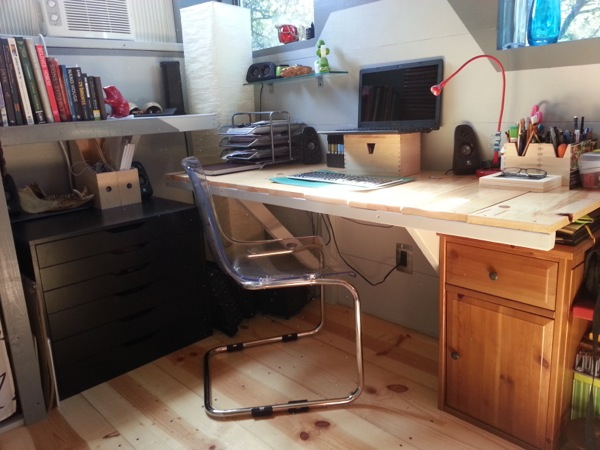 Desk in Ethan's Tiny House