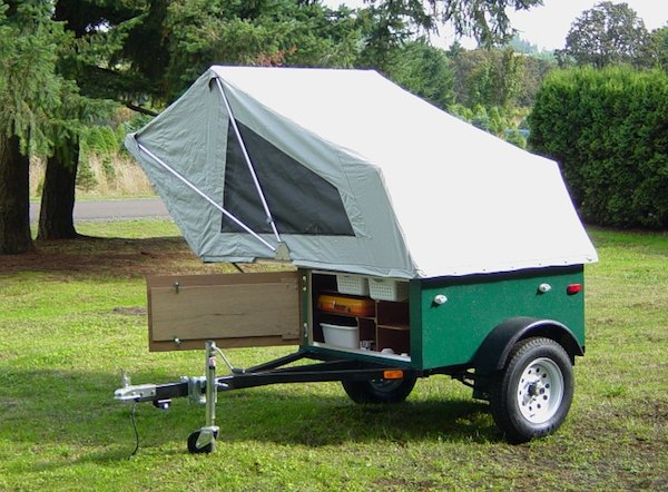 Explorer Box Mobile DIY Tent C&er with Easy Set Up Kind of like a Teardrop Trailer & DIY Tent Campers You Can Build on a Tiny Trailer