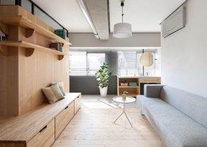 Couple's 689 Sq. Ft. Apartment Redesign