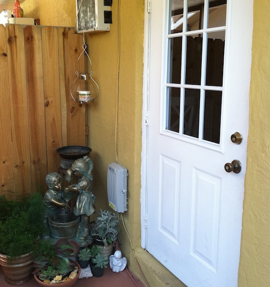 Entrance to studio apartment