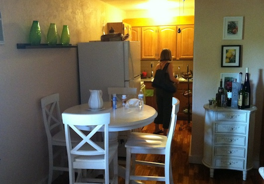 Kitchen And Dining In Studio Apartment