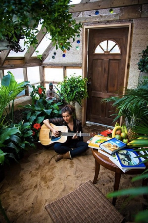 music inside the green house