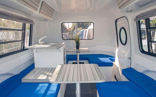 modern camper trailer interior