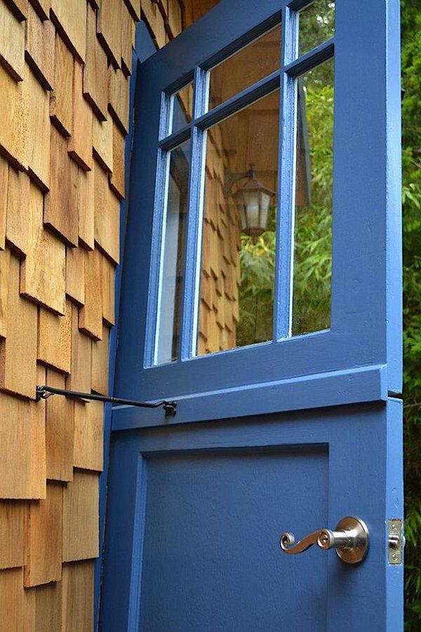 Door Latch on Hornby Island Caravan Tiny House