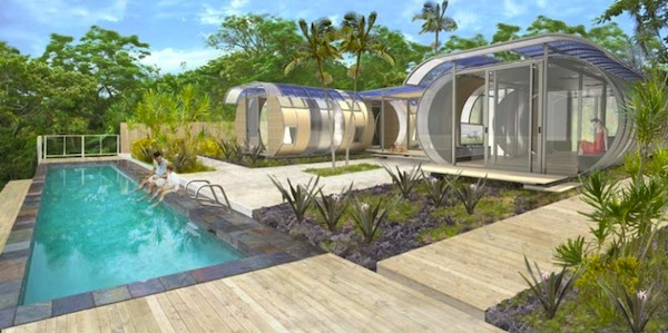 Community of House Arcs Prefab Tiny Homes