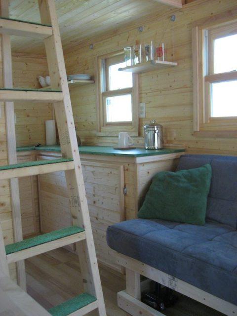 Interior of Laura's Tiny House