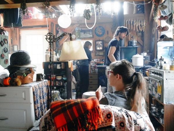 Tiny Off Grid Cabin Interior
