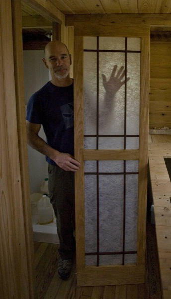 Sliding Japanese Style Door for Bathroom