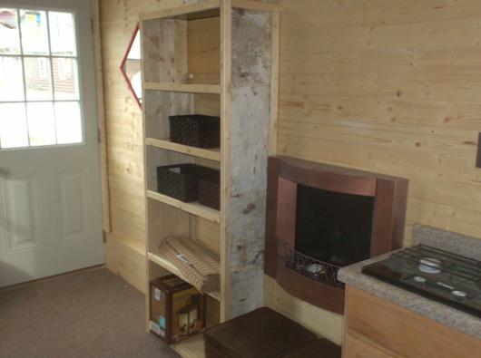 Shelf in tiny house