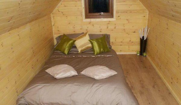 Log Pod Tiny Cabin Interior