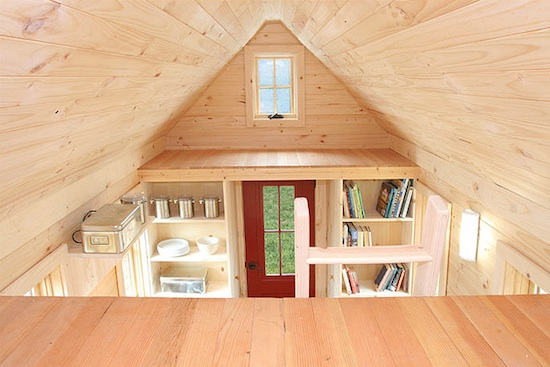 Lusby Tiny House -- Loft View with Vaulted Ceilings