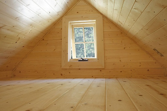 Fencl Tiny House in the Sleeping Loft Upstairs