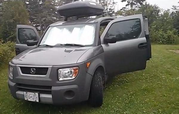 Woman Turns her Honda Element into a Micro RV