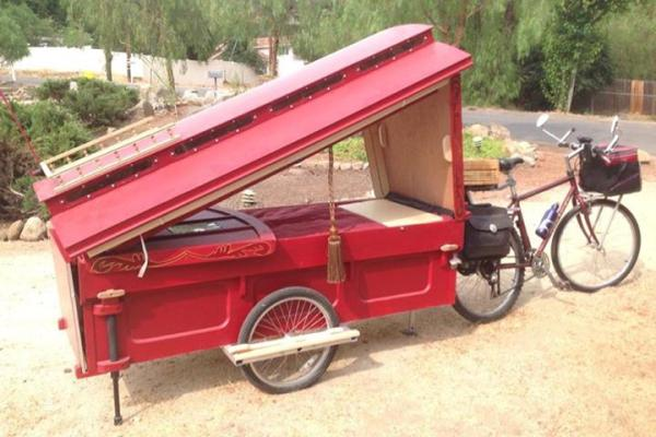 Micro Gypsy Wagon That You Can Tow By Bicycle