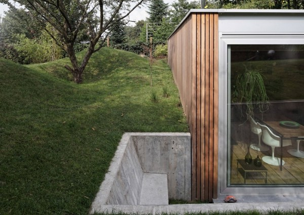 Modern Green Roof Cabin