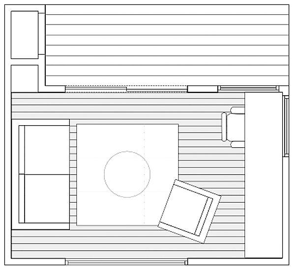 Floor Plan for Modern Prefab Backyard Micro Studio by ClearSpace Homes