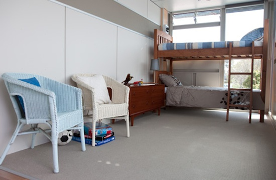 Shipping Container House Interior with Bunk Beds