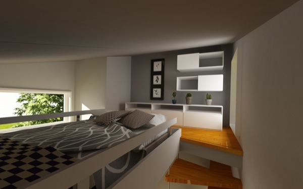 Bedroom in a Micro Home