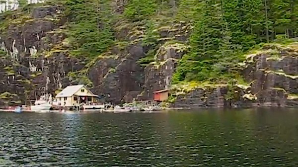 Landscape View of Wayne and Margy's Off-Grid Small Floating Home