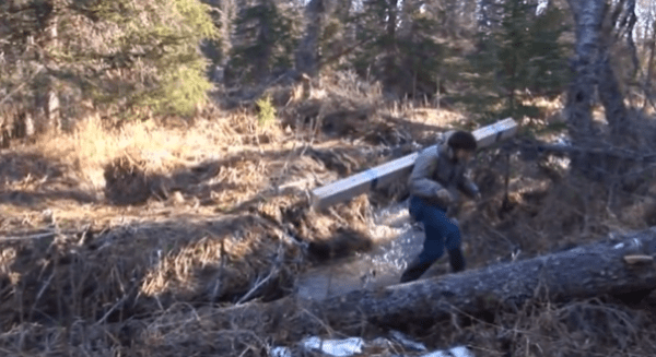 how to build pioneer log cabin