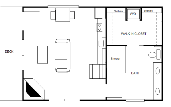 840 sq ft 20 39 x 30 39 cottage for two for 20x30 house designs and plans