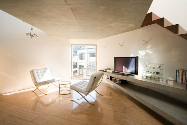 Interior of Modern Furnished Minimalist Small House in Japan