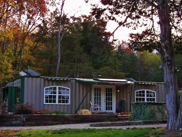 Tiny Home Designs: Man Converts Two Shipping Containers To Off-Grid Self