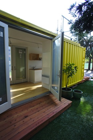 The Nomad Shipping Container Tiny House by HyBrid Architecture