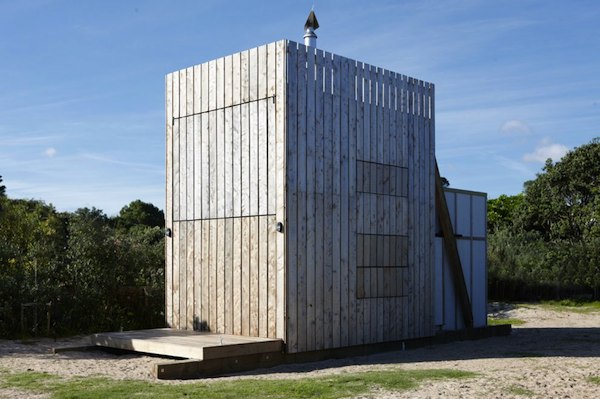 Shutters Activated on Tiny Modern Beach Hut