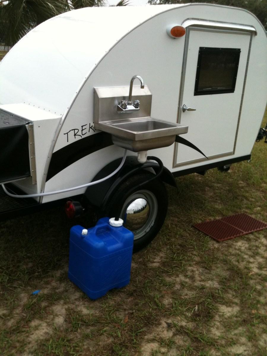 The simple sleeper teardrop camper by trekker trailers for Minimalist house trailer