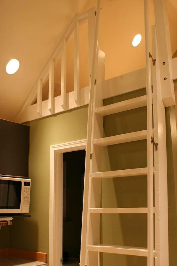 Sleeping Loft in Tiny House
