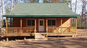 Man Builds Small Cabin on Acreage