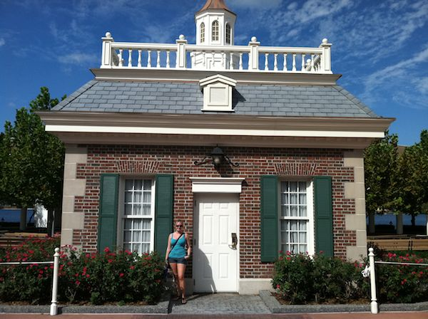 Andrea with another Small House at Epcot