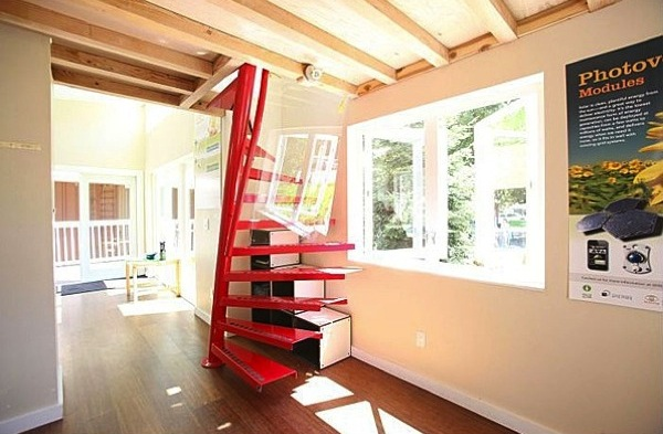 Modern Staircase to Loft