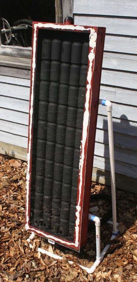 Free Heat Using Soda Can Solar Panels