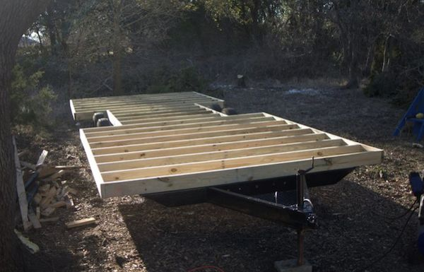 Floor framing for Tiny House - Steve and Wendy